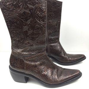 Gianni Bini Shoes - Gianni Bini | Floral Embossed Western Boots